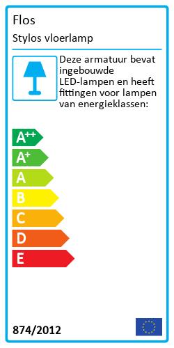Stylos vloerlampEnergy Label