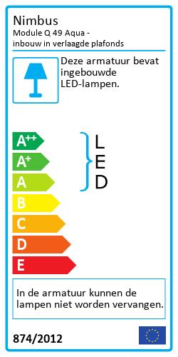 Module Q 49 Aqua - inbouw in verlaagde plafondsEnergy Label