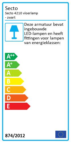 Secto 4210 vloerlampEnergy Label