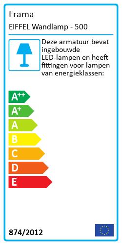 EIFFEL WandlampEnergielabel