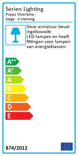 Poppy VloerlampEnergy Label